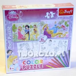 """Puzzle do kolorowania """"Disney Princess"""""""