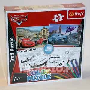 """Puzzle do kolorowania """"Cars"""""""