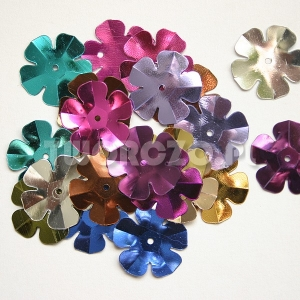 Cekiny kwiatki łamane różne kolory 200mm 2g