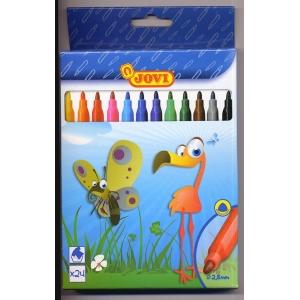 Flamastry JOVI 24 kolory w pudełku
