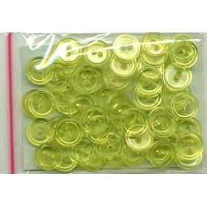 Guziki plastikowe 11,5mm 10g żółty transparentny
