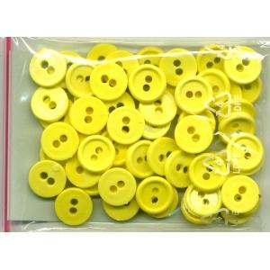 Guziki plastikowe 11,5mm 10g zimny żółty